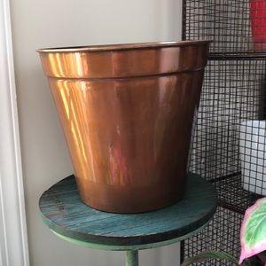 Copper toned planter